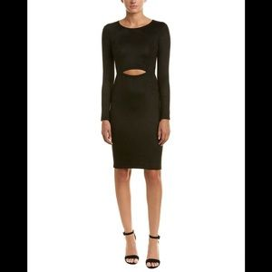 BCBGMAXAZRIA WHITLEY BLACK SUEDE DRESS